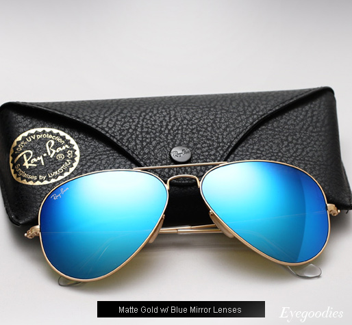 Ray Ban Aviator RB 3025 Colored Mirror sunglasses - Blue