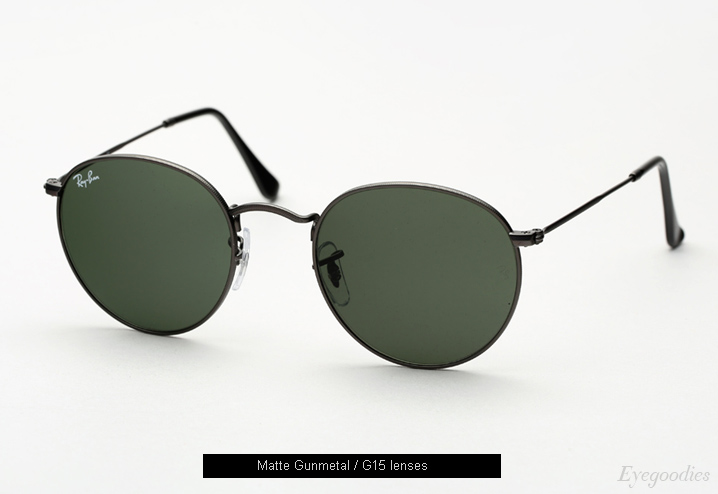 ray ban outlet online legit  ray ban round metal 3447 sunglasses matte gunmetal