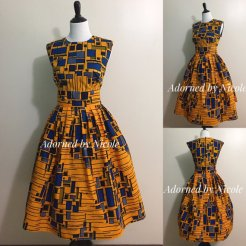Adorned by Nicole African Print Dress