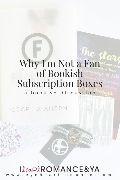 Why I'm Not a Fan of Bookish Subscription Boxes
