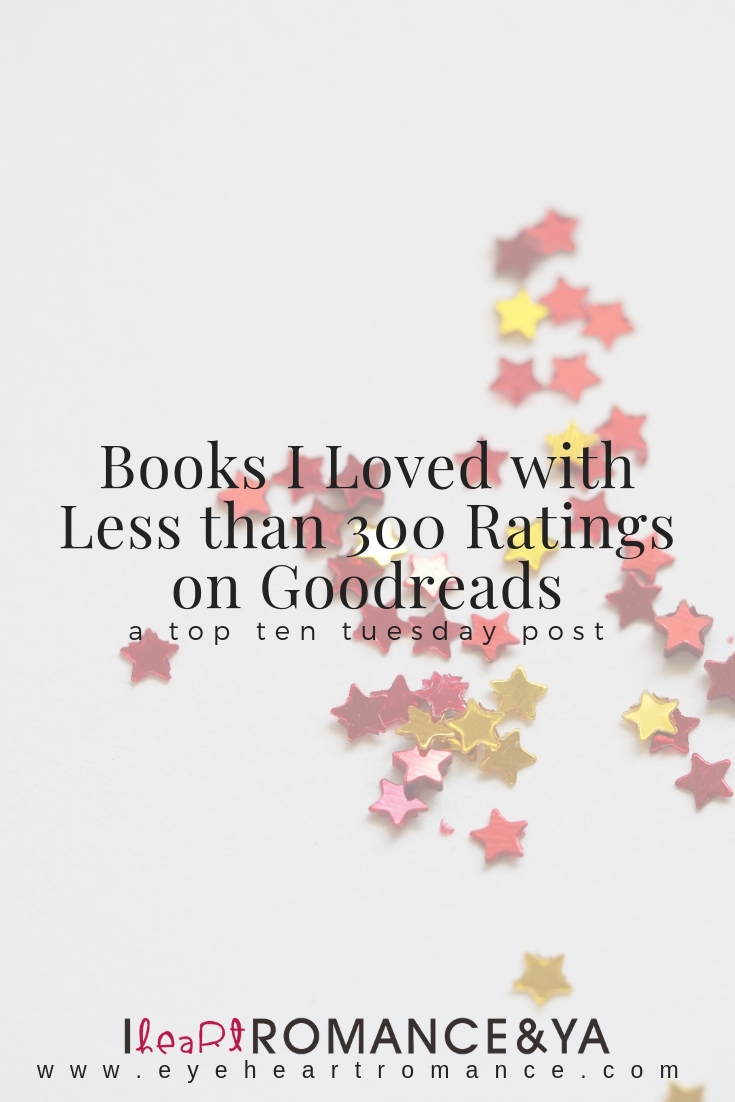 Books I Loved with Less than 300 Ratings on Goodreads