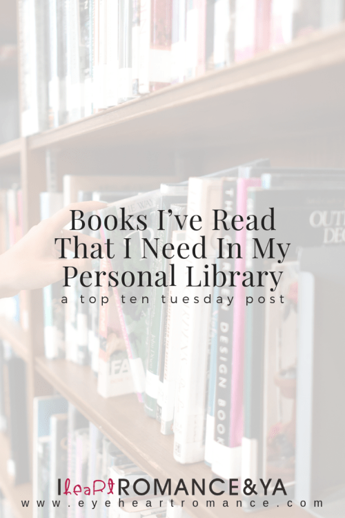 Books I've Read That I Need In My Personal Library