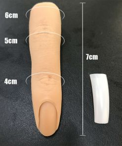 1psc Silicone Realistic Finger Brown Skin Nail practice tool UK