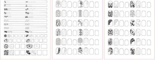 Nail Art Training Practice Lines Drawing Painting Template Learning Book