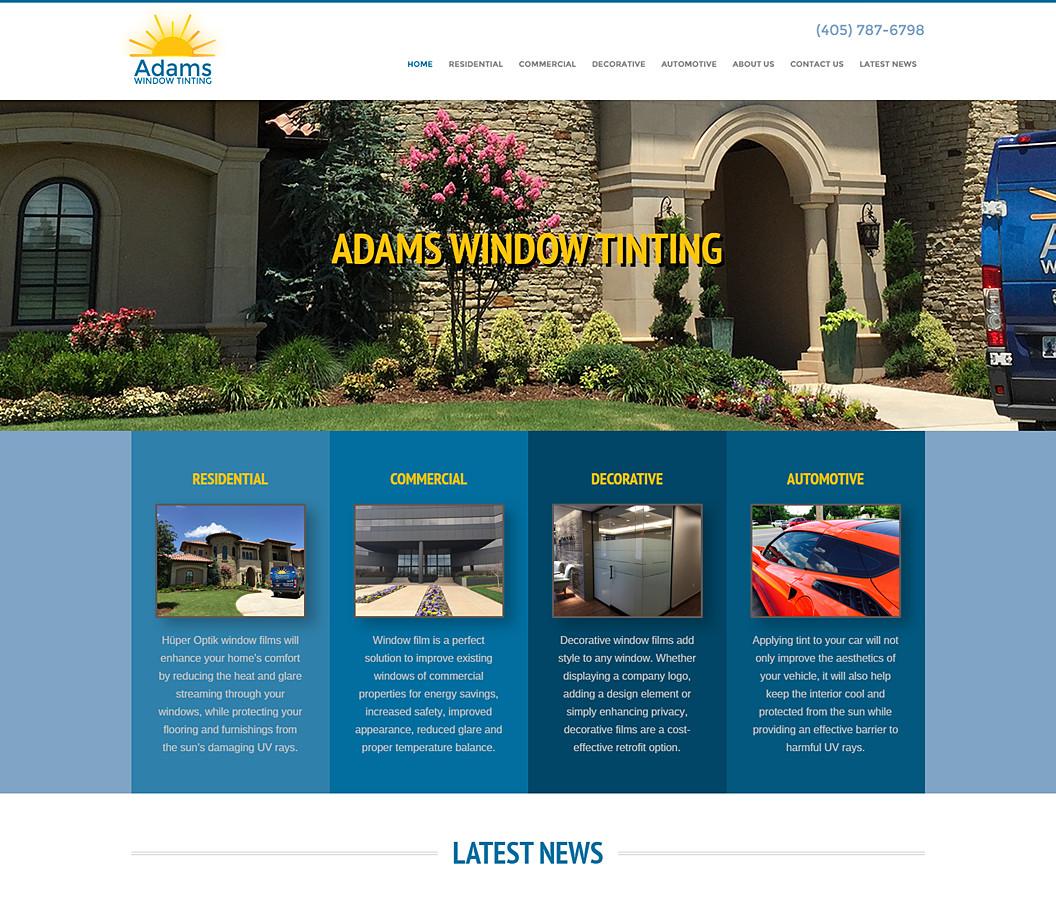 Website Build for Adams Window Tinting