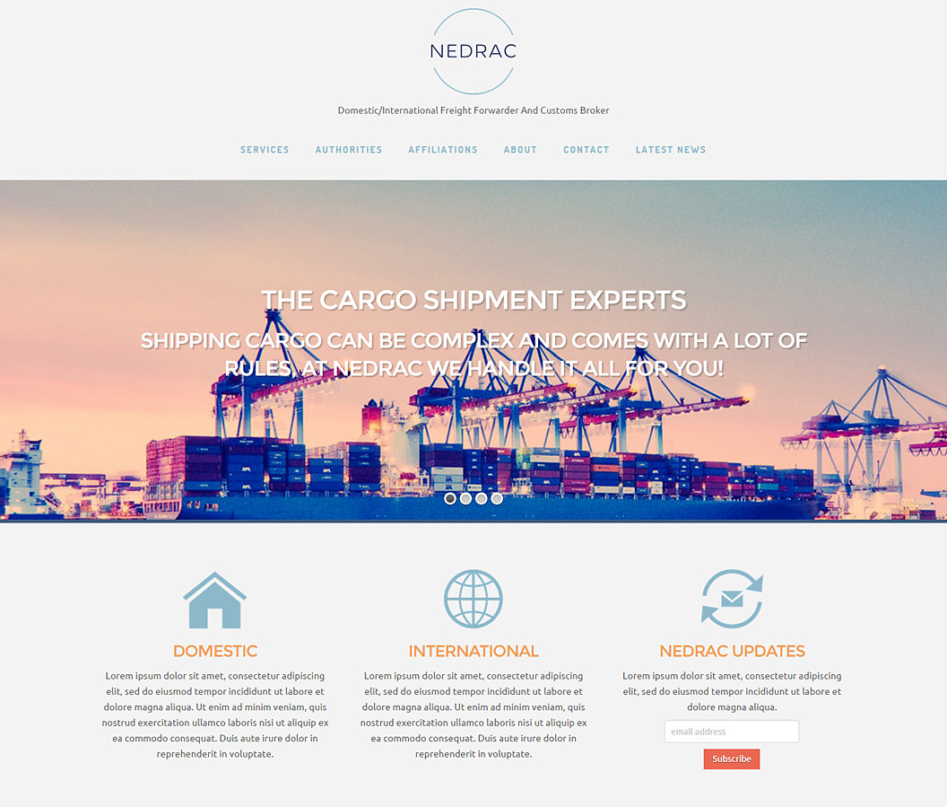 Website Build for NEDRAC