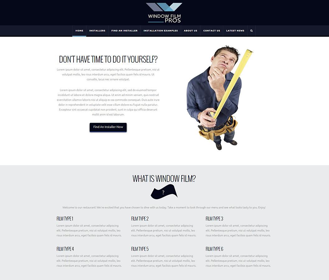 Website Built for Window Film Pros