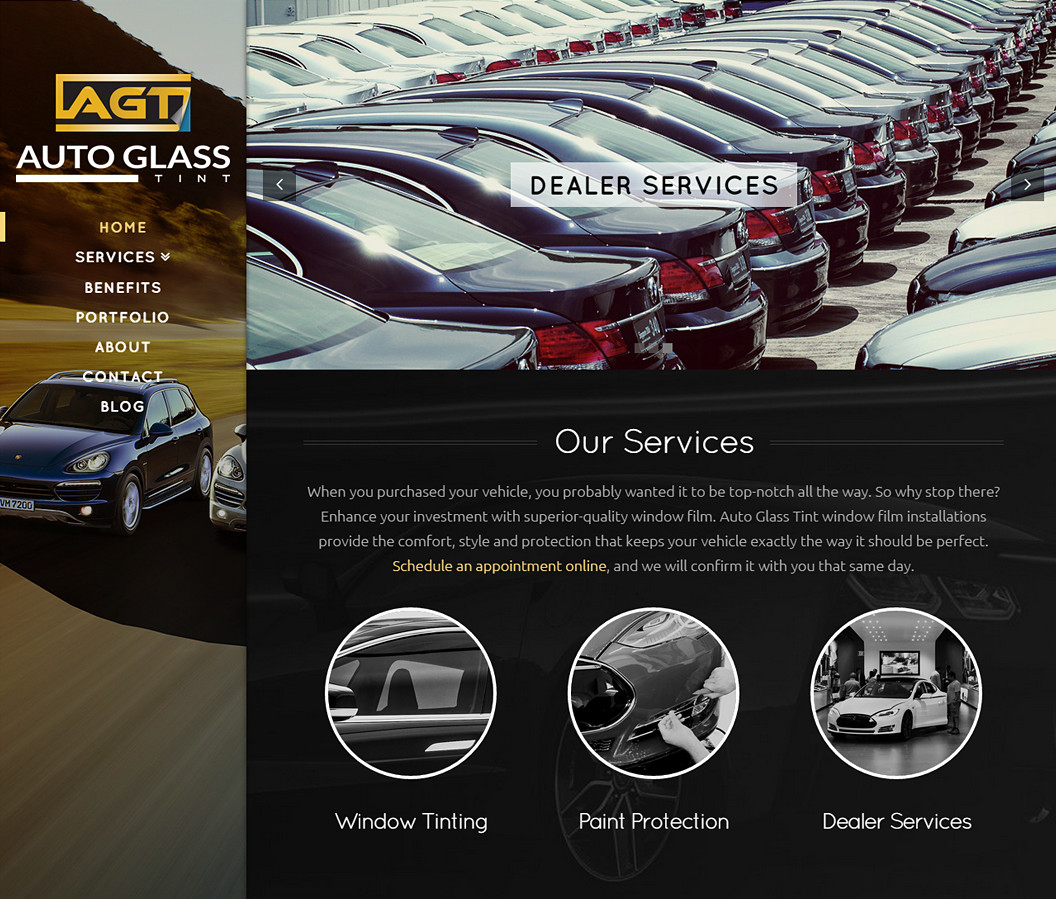 Auto Glass Tint Website