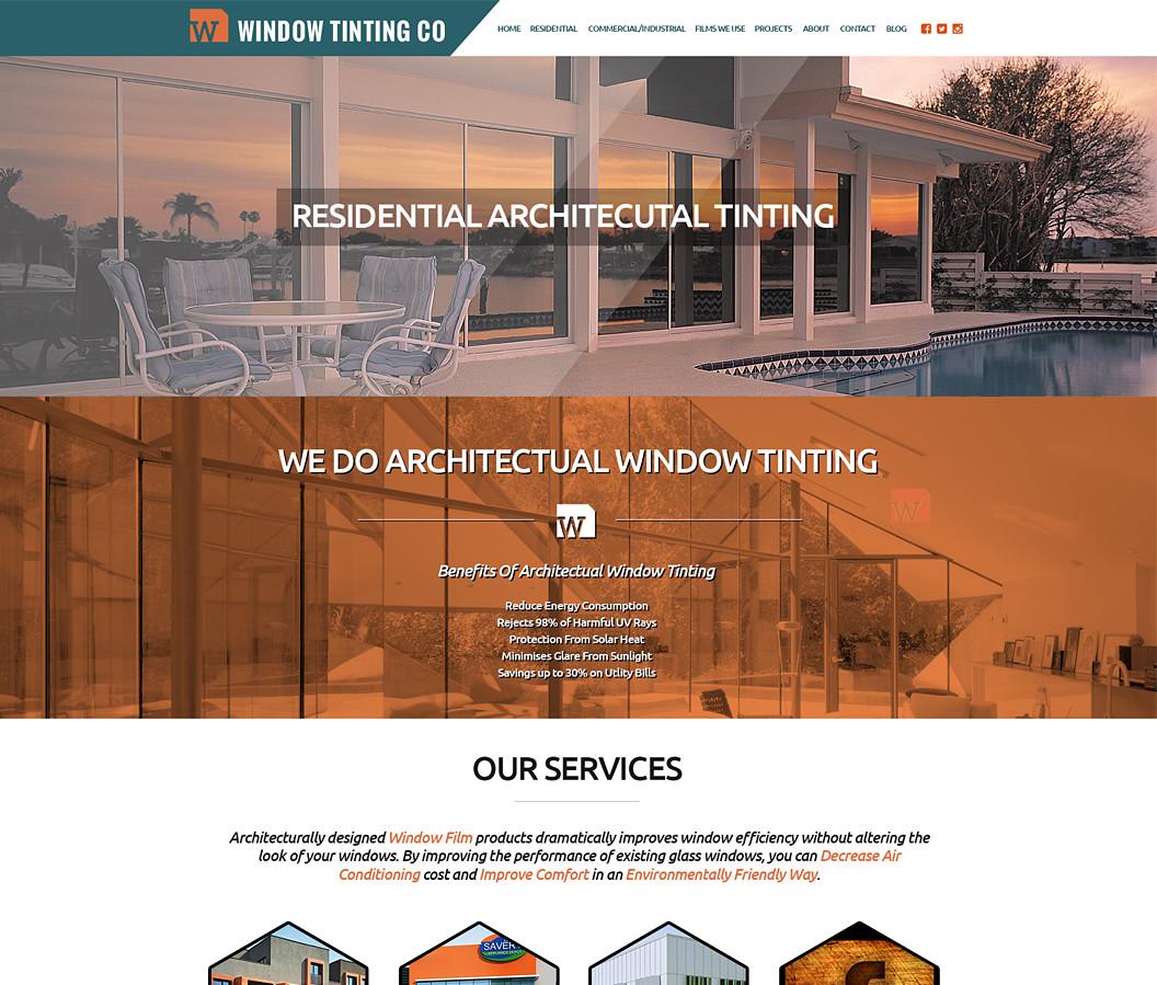 Window Tinting Company Website