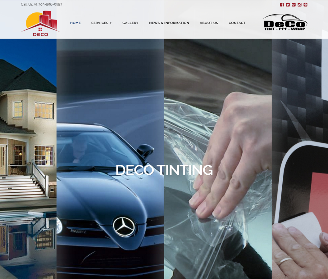 Deco Tinting Website