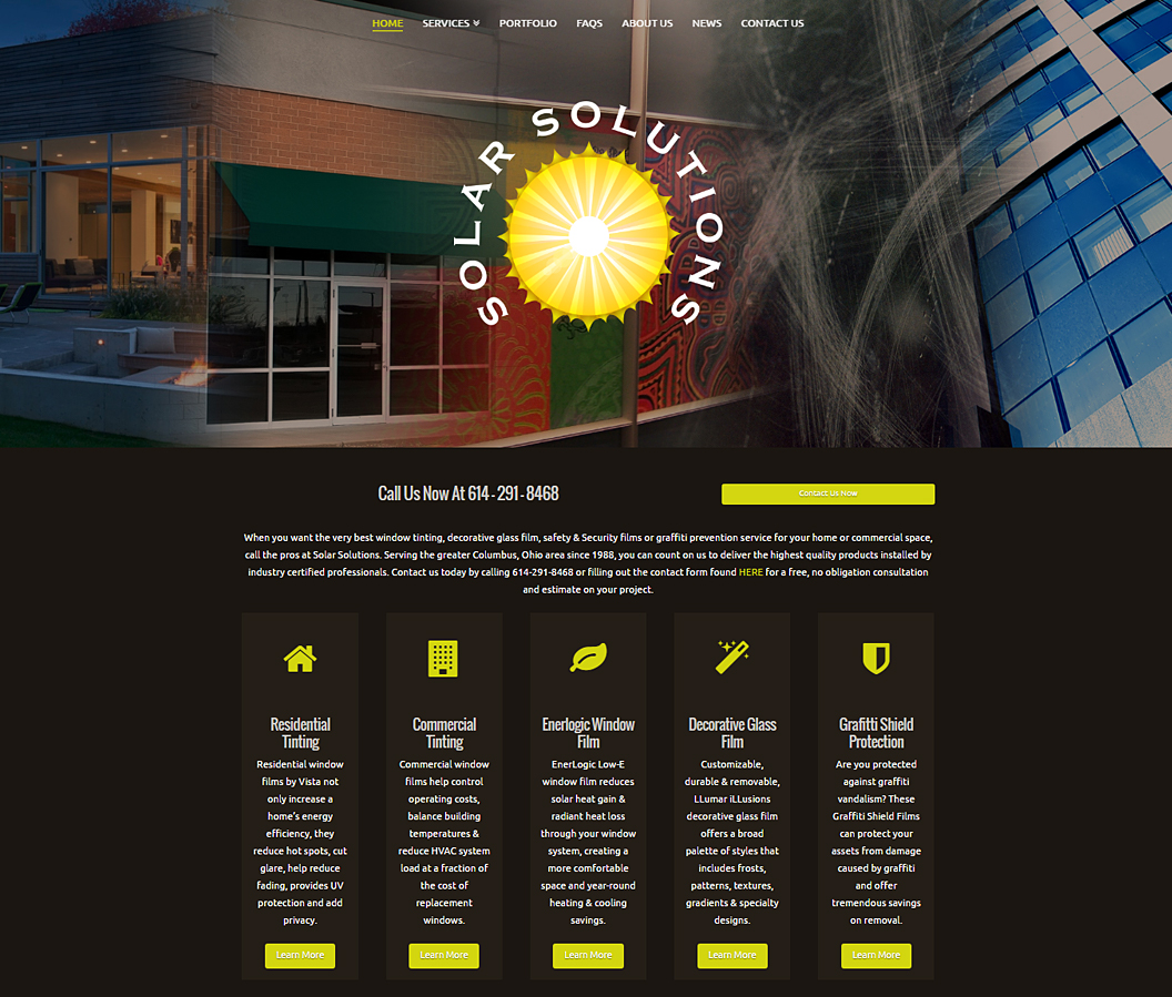 Solar Solutions Website