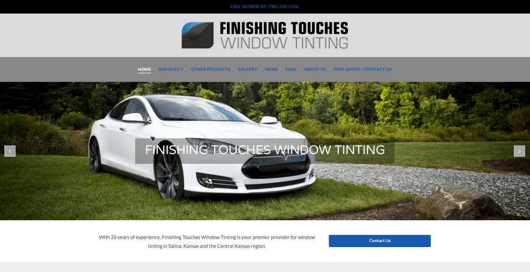 Finishing Touches Tinting - Web Design by Eye Magnet Management