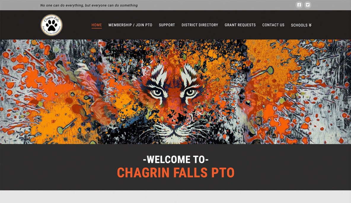 Chagrin Falls PTO - Website Design & Development by Eye Magnet Mgmt