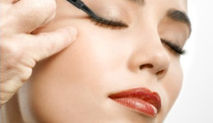Image result for applying liquid eyeliner