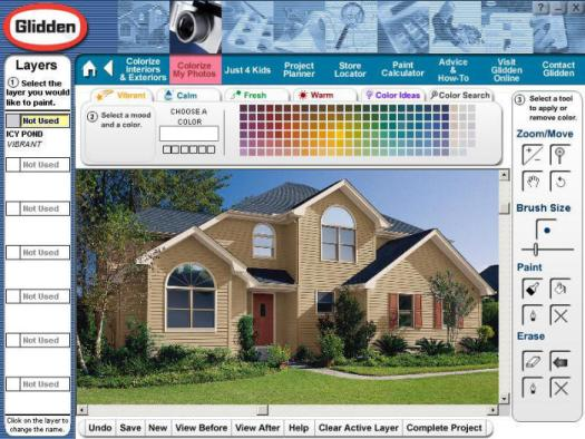 Glidden Color Home Ii Visualization Cd Rom Software