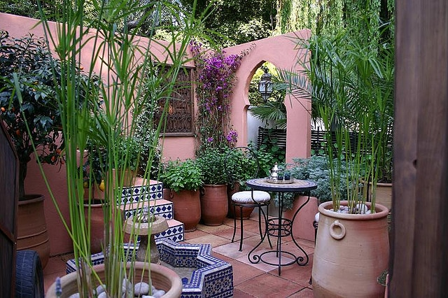 Morocco in Your Own Garden - Eye of the Day Garden Design ... on Moroccan Backyard Design  id=36051