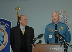 Leopold and Major Bergin announce arrests