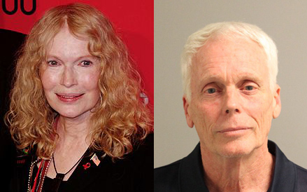 Actress Mia Farrow (L, image courtesy Wikipedia) and John Charles Villers-Farrow (R, image courtesy Anne Arundel County Police)