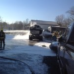 Tanker Truck Burns In Eastport