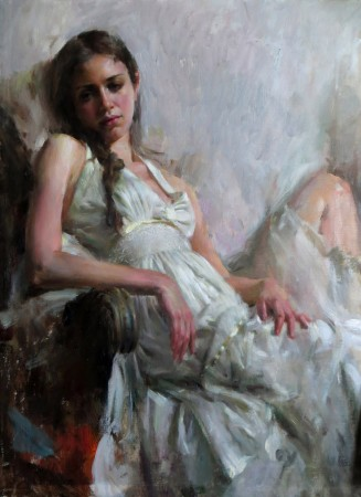 "Mary Qian, ""Gaze"", Oil at McBride Gallery"