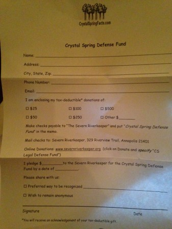 Crystal Spring Defense Fund