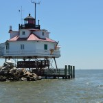 Visit the Thomas Point Shoal Lighthouse for a unique perspective on the Bay