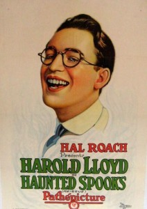 Haunted Spooks Harold Lloyd Lobby Poster