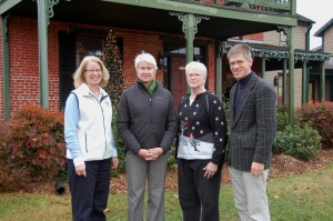 Key members of CBMM's 50th anniversary committee gather in front of the historic Dodson House, which once housed the museum's exhibitions during the institution's 1965 beginnings. Pictured from left: Vice President of Constituent Services René Stevenson, President Kristen Greenaway, 50th Anniversary Committee Chair and Development Administrator Julie Barnett, and Chief Curator Pete Lesher. Plans are underway for a year-long 50th anniversary celebration in 2015, with the festivities kicking off on Memorial Day weekend with a May 23 Party on the Point: Celebrating 50 Years on the Bay festival. An exhibition titled A Broad Reach: 50 Years of Collecting, will also open to the public that day, and will feature the top 50 pieces accessioned into the museum's collections over the past 50 years. For more information, visit www.cbmm.org or call 410-745-2916.
