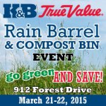 K&B True Value to host Rain Barrel and Compost Bin Event this weekend