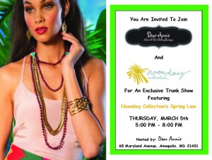 Noonday Trunk Show Flyer 2