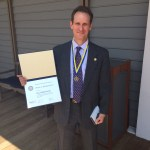 Rotary awards honor to Bruce Morgenstern