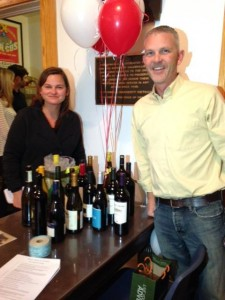 Heather Jones, winner of the Instant Wine Cellar Raffle at last year's event.