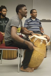 Students in the West African music and dance courses at Anne Arundel Community College rehearse for their performance at World Music Night at 7:30 p.m. Thursday, Nov. 19, in the Humanities Building Room 112 on AACC's Arnold campus, 101 College Parkway. The performance is free, and no tickets are necessary. For information, visit www.aacc.edu/music.