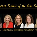 Finalists names in Teacher of the Year Award