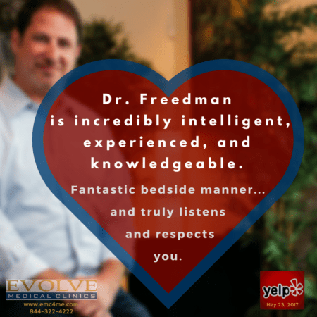 Dr. Michael Freedman is the founder and one of the physicians of Evolve Direct Primary Care. Evolve provides the highest rated Primary Care and Urgent Care serving Annapolis, Edgewater, Davidsonville, Crownsville, Severna Park, Arnold, Gambrills, Crofton, Waugh Chapel, Stevensville, Pasadena and Glen Burnie.