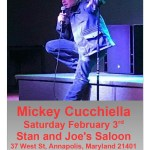 Comedy show with Mickey Cucchiella at Stan and Joe's this Saturday!