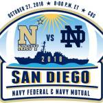 Navy Faces No.3 Notre Dame In San Diego