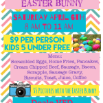 Country Breakfast, Easter Bunny & Egg Hunt – April 6th