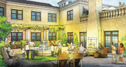 Bay Village Rear Courtyard Rendering