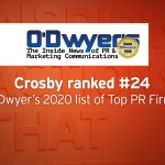 Crosby names a Top 25 PR Firm by O'Dwyer's Magazine