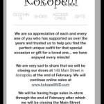Kokopelli on Main Street to permanently close at end of February, online to continue
