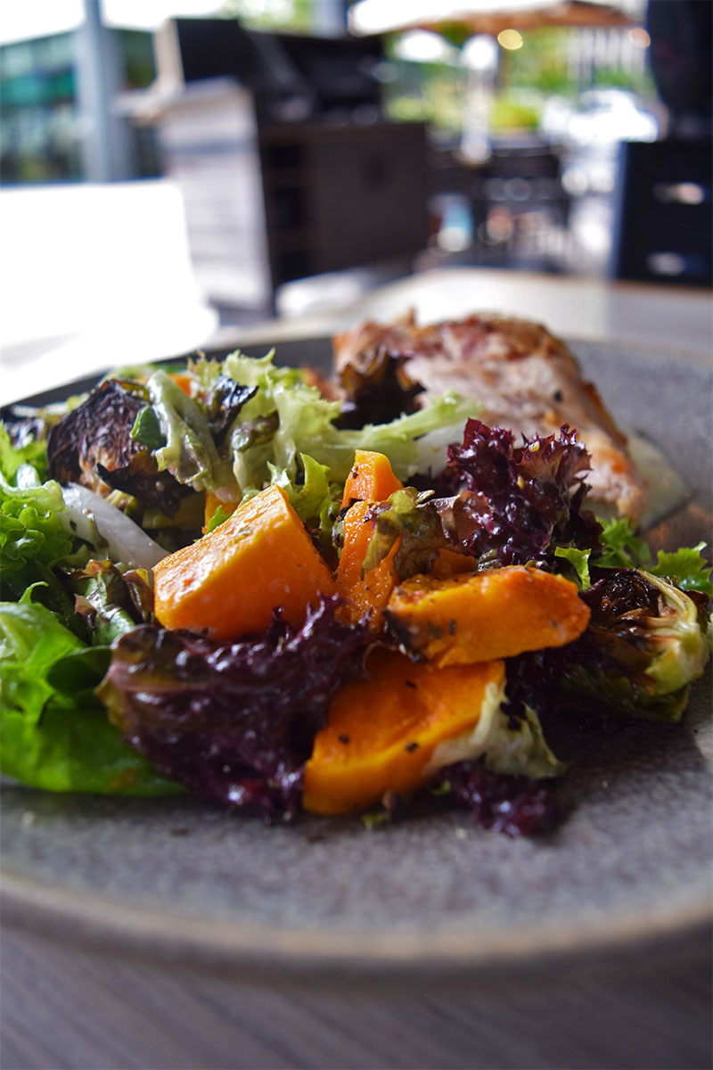 Moku Kitchen healthy lunch Waikiki, Peter Merriman