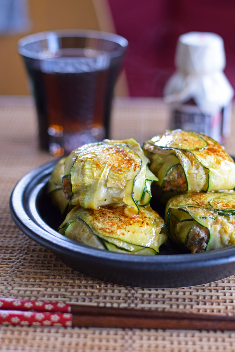 Zucchini Slices to Make Healthy, Low Carb Dumplings (Asian)