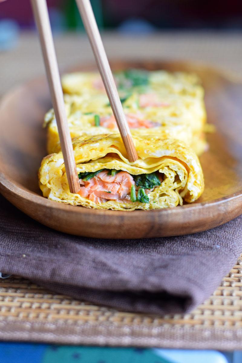 Japanese Eggs – Tamagoyaki Recipe (Rolled Omelettes)