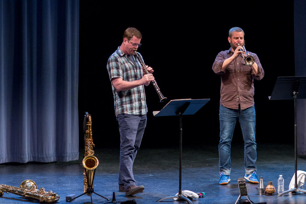 Jazz photography of Ken Vandermark & Nate Wooley by Daniel Sheehan.
