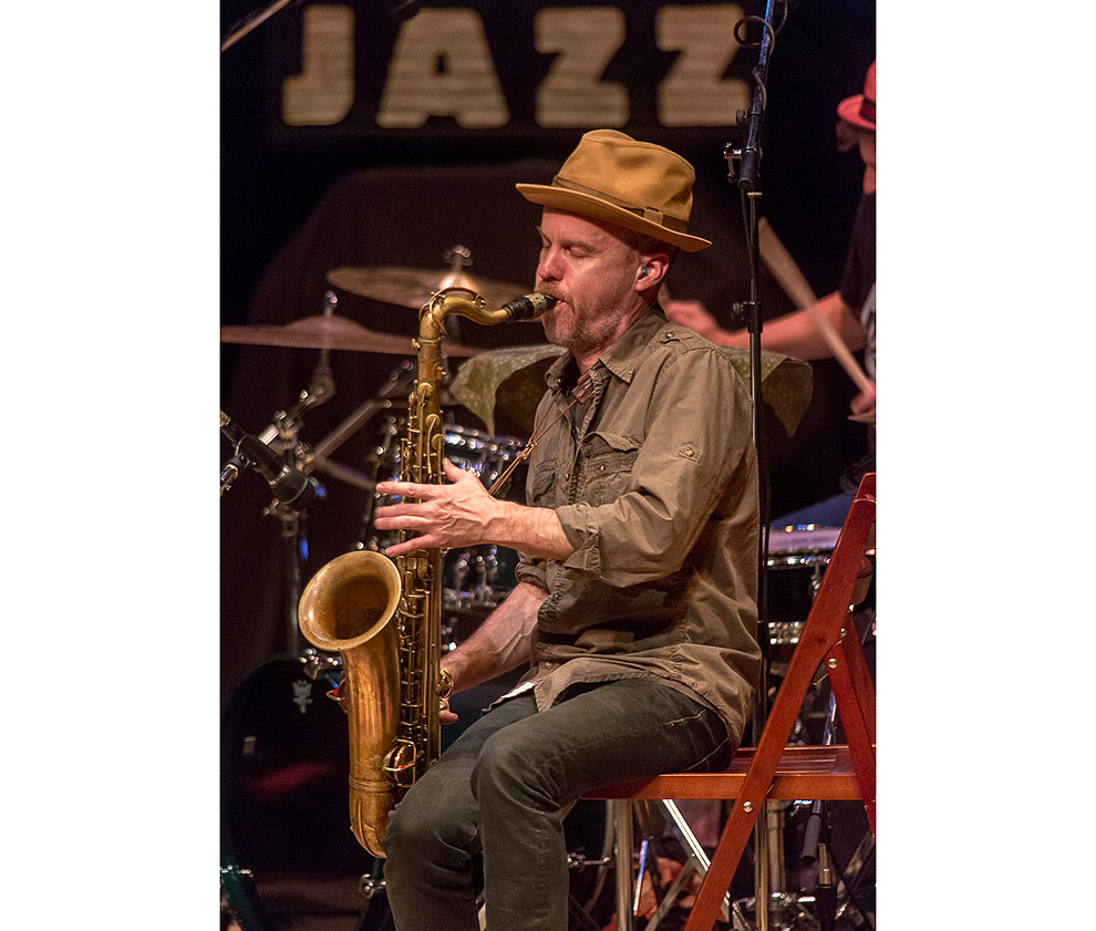 Jazz photographer Daniel Sheehan photographed Chris Speed and his jazz group Human Feel in Seattle.