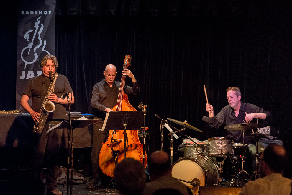 "Jazz trio  ""Open Loose"" played in Seattle photography by jazz photographer Daniel Sheehan"
