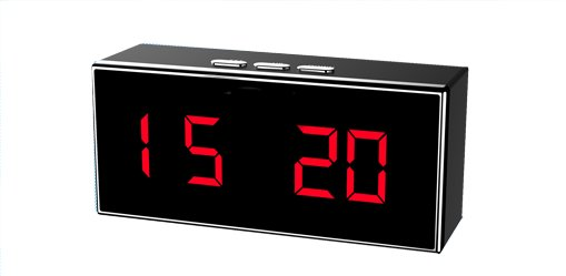 IP HD Concealed Security Camera Digital Clock Video Recorder-2706