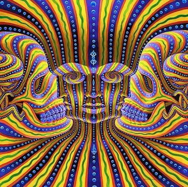 7 Faces Optical Illusion
