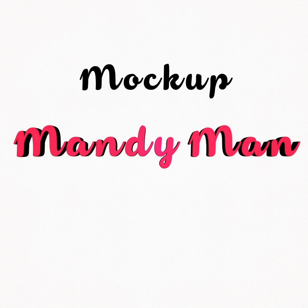 Mandy Man 3D Mockups